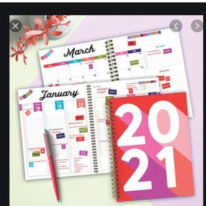 2021 daily planner w/Daily Bold Task Pad